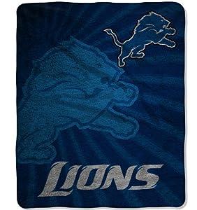 NFL Detroit Lions Strobe Sherpa Throw Blanket, 50x60-Inch by Northwest