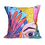 MeSleep Digitally Printed Multi Crayon Look Cushion Cover - Multicolor