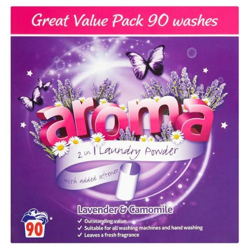 Aroma 2 in 1 Laundry Powder Lavender & Camomile 90 Washes 6kg