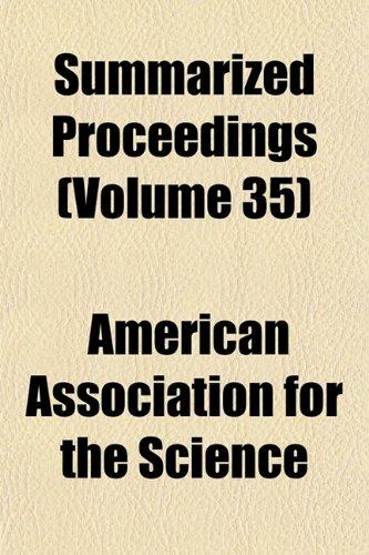 Summarized Proceedings (Volume 35)