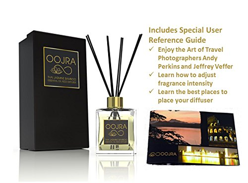 Oojra thai jasmine bamboo essential oil reed diffuser gift for Long lasting home fragrance