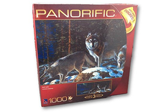 Panorific Jim Hansel 1000 Piece Jigsaw Puzzle: Night Lights Wolf