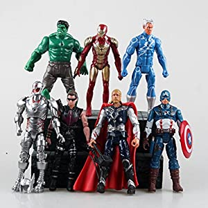 Marvel Superhero The Avengers Justice League Iron Man Captain America Thor Hulk Hawkeye pvc action figure toy Doll