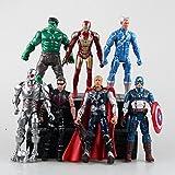 Marvel Superhero The Avengers Justice League Iron Man Captain America Thor Hulk Hawkeye pvc action figure toy Doll