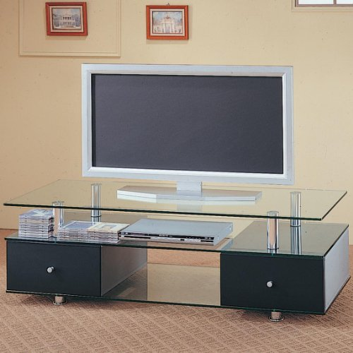 Cheap TV Stand w/Glass Shelves by Coaster (B007V5JC8S)