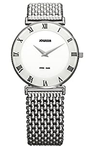 Jowissa Women's J2.003.L Roma 36 mm White Dial Roman Numeral Stainless Steel Watch