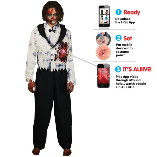 Morphsuits Men's Morphcostume Co Beating Heart Zombie Digital Male Costume