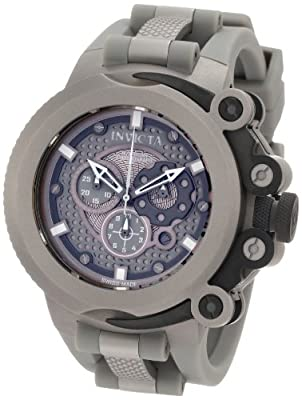 Invicta Men's 0958 Force Chronograph Grey Dial Grey Polyurethane Watch