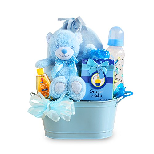 California Delicious Gift Basket, Cuddly Welcome for Baby Boy