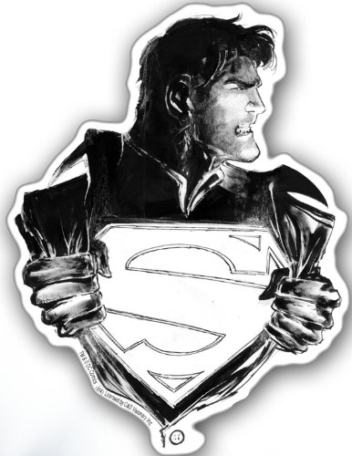 Licenses Products DC Comics Superman Changing Sticker