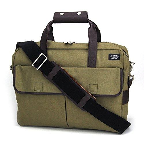 (ジャックスペード) JACK SPADE Field Canvas Briefcase NYRU1515 310 ブリーフケース メンズ Tank ベージュ 2WAY ショルダー [並行輸入品]