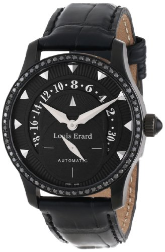 Louis Erard , Orologio da Donna 92601NS02.BAV05 Emotion automatico PVD nero alligater Pelle Diamond [Orologio]