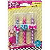 Barbie Birthday Cake Candles - 6 pcs
