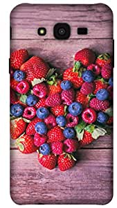 The Racoon Lean Berry Berry Special hard plastic printed back case for Samsung Galaxy J7