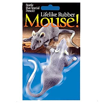 Realistic Full Size Rubber Mouse Halloween Gag