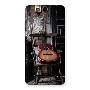 Ajay Enterprises Old Guitar On Chair Back Case Cover for Micromax Canvas Juic...