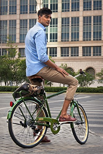 Gama Bikes Men's City 6 Speed Shimano Hybrid Urban Commuter Road Bicycle, 26-inch wheels 1