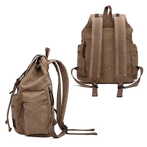 Canvas Backpack Vintage Hiking Travel Outdoor Shouder Bag Carry Case