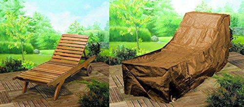 Deluxe Polyester Schutzhülle Schutz-Plane für Gartenliege Liegestuhl 175cm braun