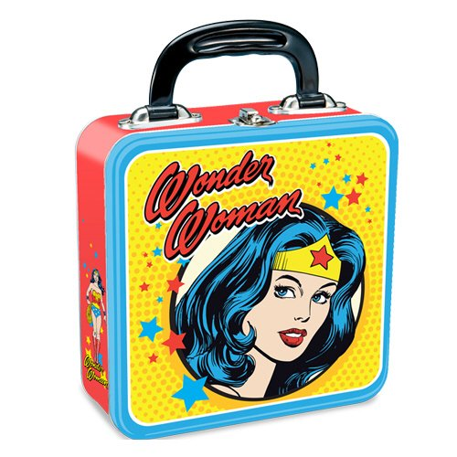 Vandor 75470 Wonder Woman Square Tin Tote, Multicolored