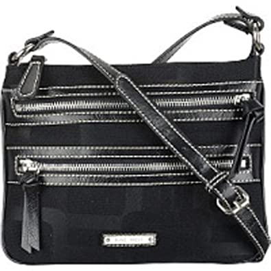 Nine West Reno Signs Version 2 Crossbody (Black-Black)