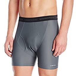 ExOfficio Men\'s Give-N-Go Boxer Brief,Charcoal,Large