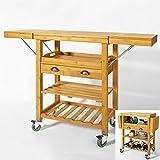 SoBuy® Servierwagen aus hochwertigem Bambus