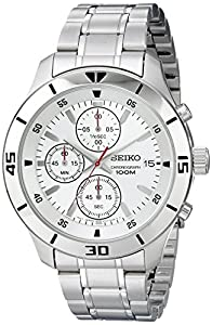 Seiko Chronograph Silver Dial Stainless Steel Mens Watch SKS397 by Seiko