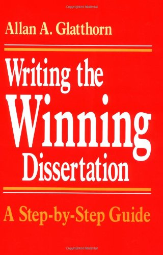 writing doctoral dissertation books Online shopping from a great selection at books store authoring a phd: how to plan, draft, write and finish a doctoral thesis or dissertation (palgrave study guides.