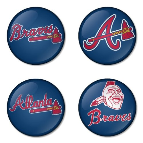 "Atlanta Braves MLB Round Badge 1.75"" Badge Bottle Opener Keychain at Amazon.com"