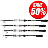 KastKing Ranger Portable Telescopic Fishing Rods - Bass, Trout, Crappie Fishing Travel Spinning Rods - 2015 ICAST Award Winning Manufacturer - [UP TO 60% OFF! Holiday Sale] (Ranger Rod, 7' 10'')