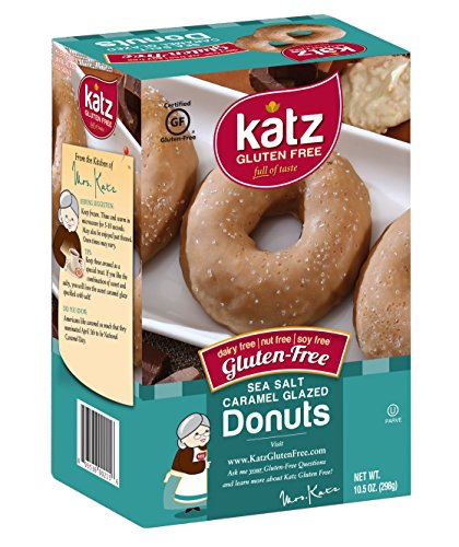 Katz Gluten Free Sea Salt Caramel donuts, 10.5 Ounce, Certified Gluten Free - Kosher - Dairy, Nut & Soy free - (Pack of 6) (Quest Chip Salt And Vinegar compare prices)