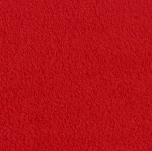 """Red Anti Pill Solid Fleece Fabric, 60"""" Inches Wide - Sold By The Yard"""
