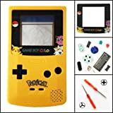 TBGS - Full Housing Shell Case Cover Replacement for Nintendo GBC Game Boy Color Limited Edition (Color: Blue Yellow)