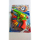 Kids Shotting Air Gun Toy For Playing - Multi Colour Gun & Bullets. (Colour & Design May Vary)