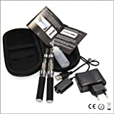 Kit doble E-cigarrillos EGO CE4+ - 650mAh - negro