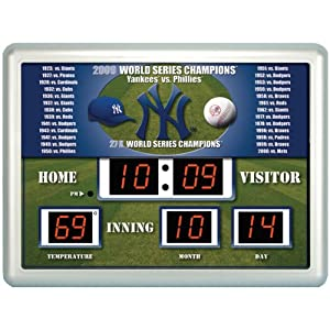 MLB New York Yankees Scoreboard by Team Sports America