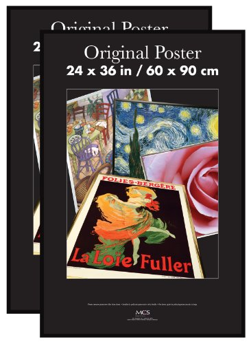 MCS 65594 Original Poster Frame, 24 by 36-Inch, Black, 2-Pack ...