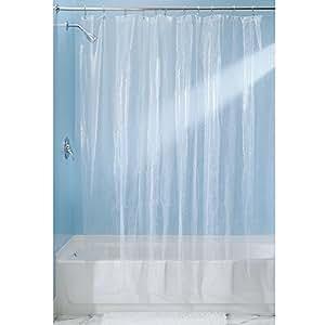 interdesign rain sans pvc rideau de douche eva 180 x 180 cm transparent cuisine. Black Bedroom Furniture Sets. Home Design Ideas