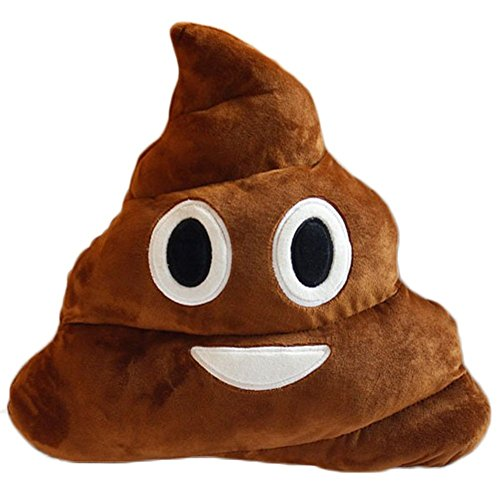 PONATIA Poop Pillow Emoji Smiley Cute Expression Kids Stuffed Toy 13″