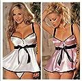 Samgu-Sexy Lingerie transparent frauen kleid nacht mit polyester passenden G-string ist damit enthalten