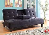 Milton Greens Stars 7501BK Madrid Futon Sofa Bed with Cup Holder, Black