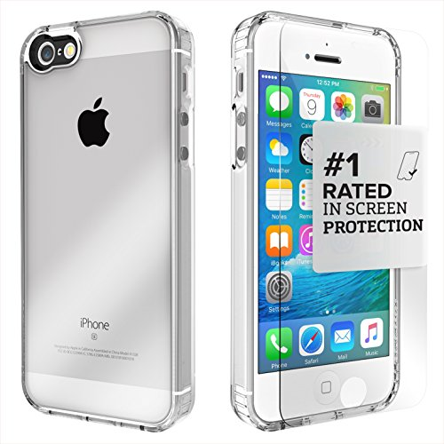 iPhone SE Case, fits iPhone 5s 5 SE (Clear) SaharaCase Protective Kit Bundled with [Tempered Glass Screen Protector] Slim Fit Rugged Protection Case Shockproof Bumper Hard Back (Clear) (Iphone5 Back Repair Kit compare prices)