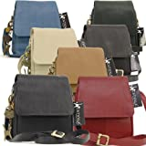 Catwalk Collection Leather Organiser Messenger Bag - Teagan