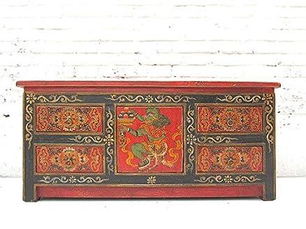 China ca 1940Mobiletto Cassettiera in legno di pino in tradizionale bemalung filigrane motivi di Luxury Park