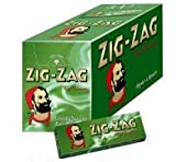 Box of Green Zig Zag Rizla Papers standard.