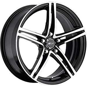 MSR 48 18 Machined Black Wheel / Rim 5×100 with a 42mm Offset and a 72.64 Hub Bore. Partnumber 4829735