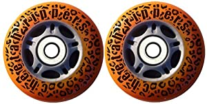 ORANGE CHEETAH Wheels for RIPSTICK ripstik wave board ABEC 9 by Cheetah Rippers