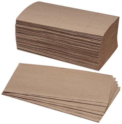 SKILCRAFT 8540-01-494-0911 Single-Fold Kraft Paper Towel, 9-1/4