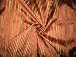 Italian Satin Silk Taffeta - ZAZU'S COLLECTION - Gold and Rosewood